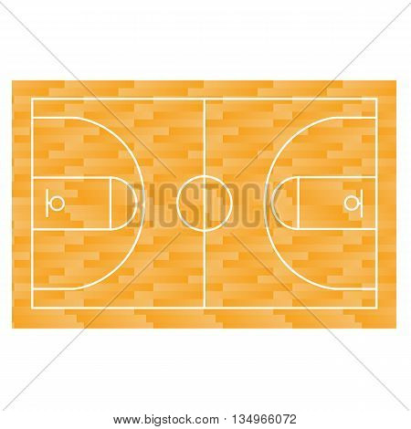 Basketball field, court, yard FIBA, app infographics and design