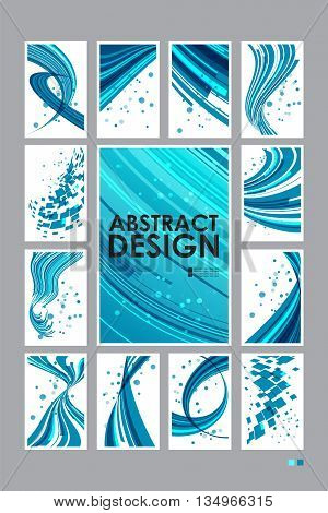 Set abstract technology background, business cards, group templates