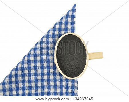 Board With Wooden Peg On Checked Cloth