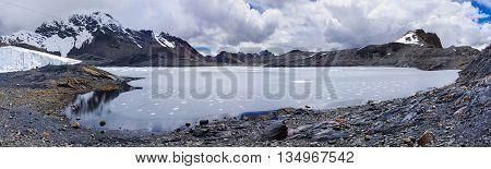 Pastoruri glacier in Cordillera Blanca Northern Peru