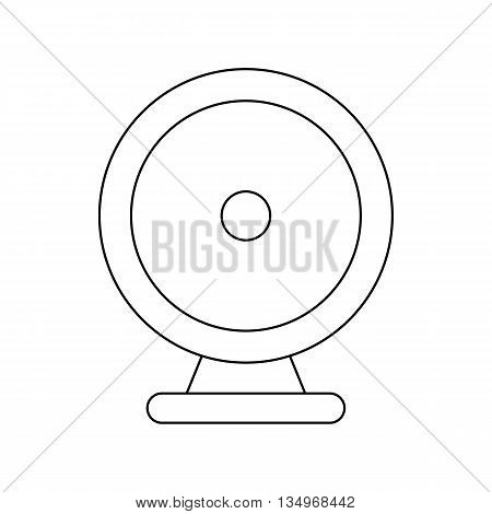 Audio speaker icon in outline style on a white background