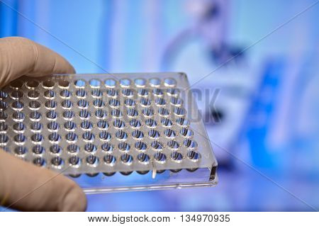 Tests in Medical Science Laboratory. DNA testing for the diagnosis of human diseases.