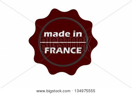 made in france seal on white background.stamp.