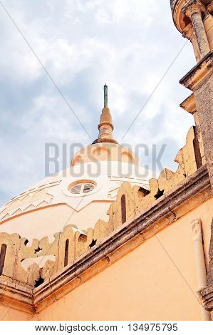 Dome of Cathedral of Saint Louis of Carthage located in Carthage, Tunisia. It is an old Roman Catholic Cathedral situated near the Carthage National Museum on the hill of Byrsa