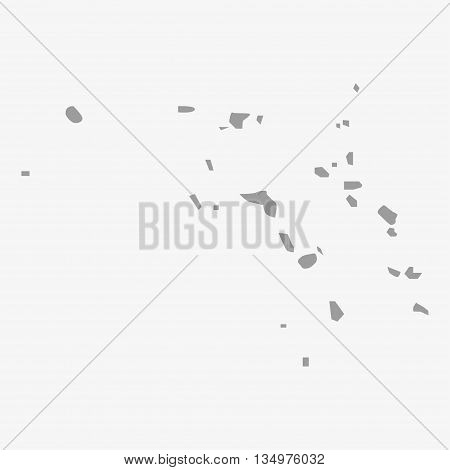Marshall Islands map in gray on a white background