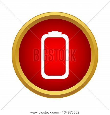 Battery icon in simple style isolated on white background