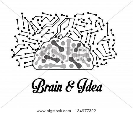Human organ concept represented by brain icon over flat and isolated background