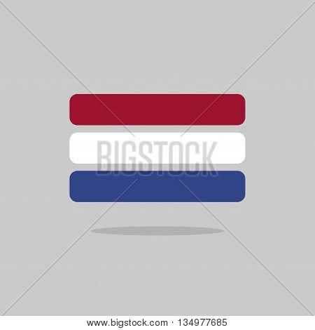 Netherlands Flag State Symbol Stylized Geometric Elements