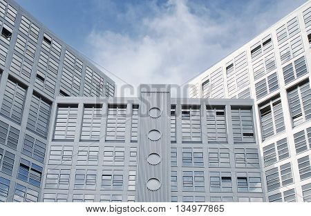 Modern architecture. Modern office building in Hamburg Germany.