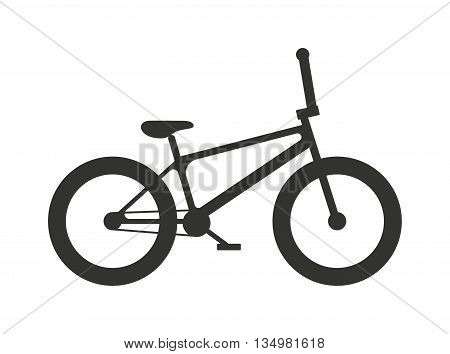 Classic sport bike silhouette pedal race vehicle vector illustration.