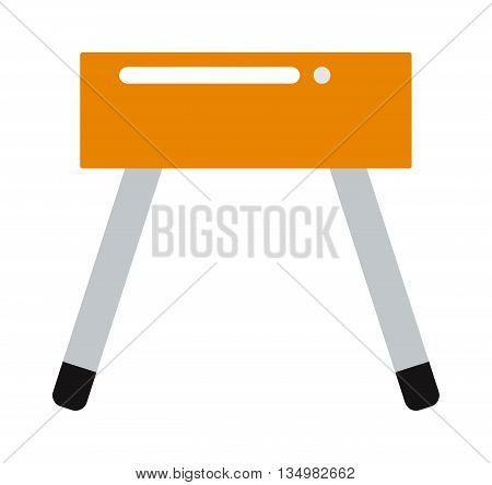 Flat vector and sport gym pommel horse. Pommel horse sport competition