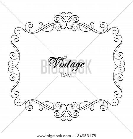 Vintage Calligraphy Frame