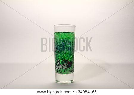 Stack Alcoholic Beverage On White Background