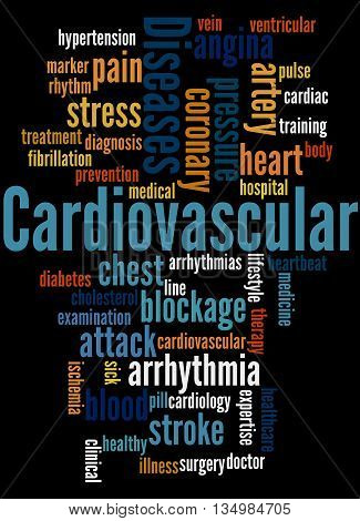 Cardiovascular Diseases, Word Cloud Concept 8