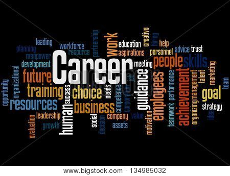 Career, Word Cloud Concept 4