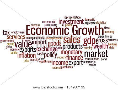 Economic Growth, Word Cloud Concept 8