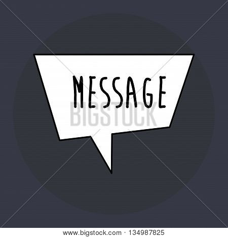 message concept with icon design, vector illustration 10 eps graphic.