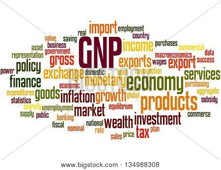 Gnp - Gross National Product, Word Cloud Concept 4