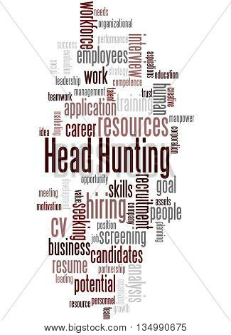 Head Hunting, Word Cloud Concept 8