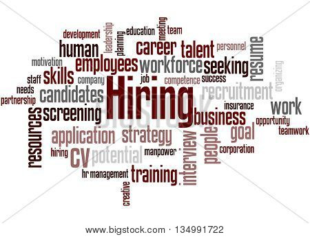 Hiring, Word Cloud Concept 2