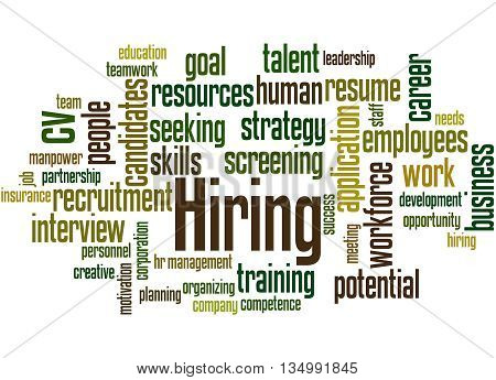 Hiring, Word Cloud Concept 6