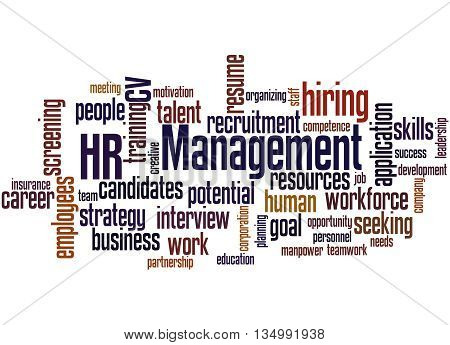 Hr Management, Word Cloud Concept