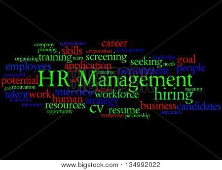 Hr Management, Word Cloud Concept 3