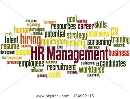 Hr Management, Word Cloud Concept 6
