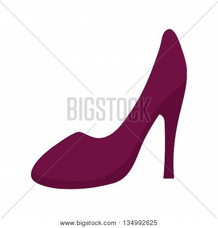 Cloth concept represented by heel icon over flat and isolated background