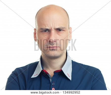Expressions Of Bald Man - Angry