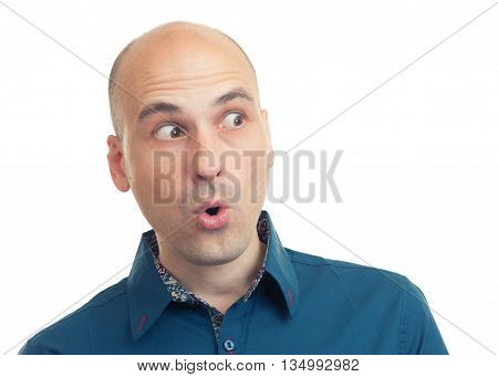 Expressions Of Bald Man - Shock