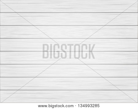 Wooden white vintage background. Horizontal wooden weathered planks. Vector.