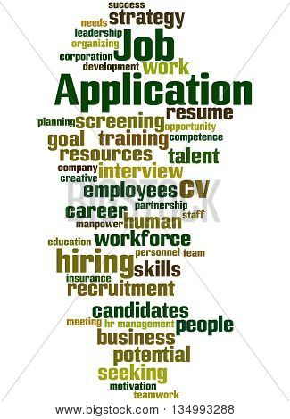 Job Application, Word Cloud Concept 6