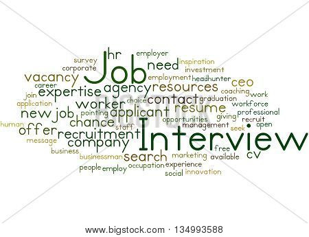 Job Interview, Word Cloud Concept 4