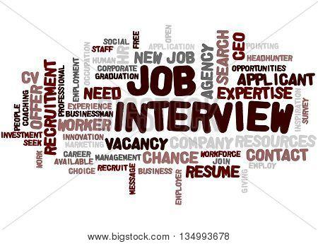 Job Interview, Word Cloud Concept 6