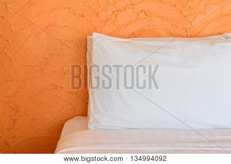 soft pillows and blanket modern style on a bed