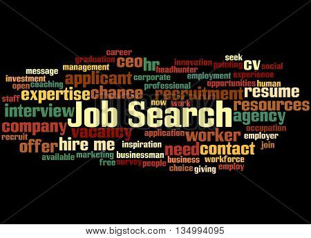 Job Search, Word Cloud Concept 7