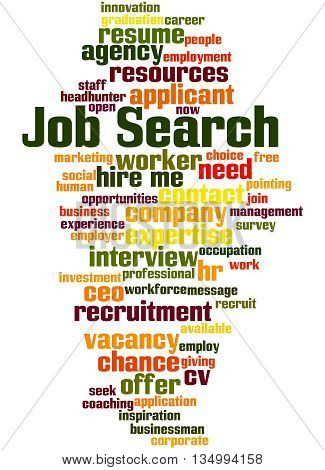 Job Search, Word Cloud Concept 9