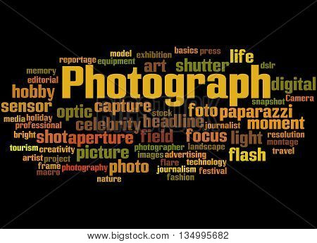 Photograph, Word Cloud Concept