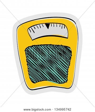 Weight concept represented by scale icon over flat and isolated background