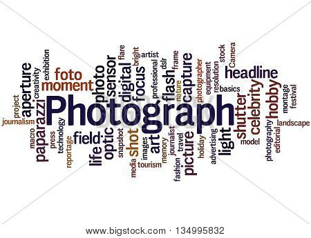 Photograph, Word Cloud Concept 3