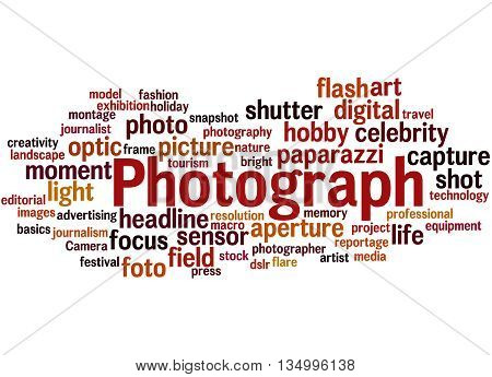 Photograph, Word Cloud Concept 8