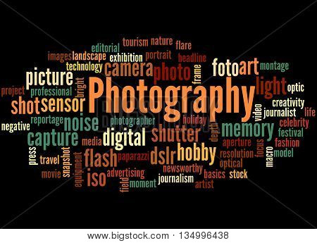 Photography, Word Cloud Concept 5