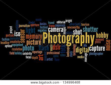 Photography, Word Cloud Concept 6
