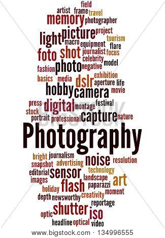 Photography, Word Cloud Concept 9
