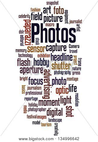 Photos, Word Cloud Concept 2