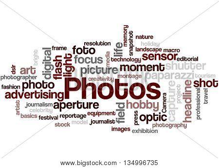 Photos, Word Cloud Concept 6