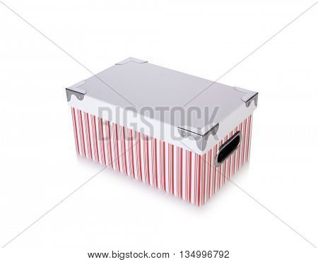 Storage box isolated on the white background