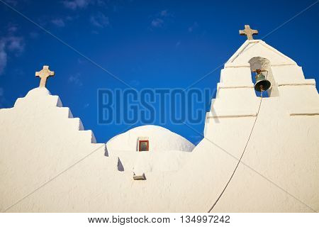 Old Paraportiani 14 century church - the most famous and popular place on the island Mykonos in Greece