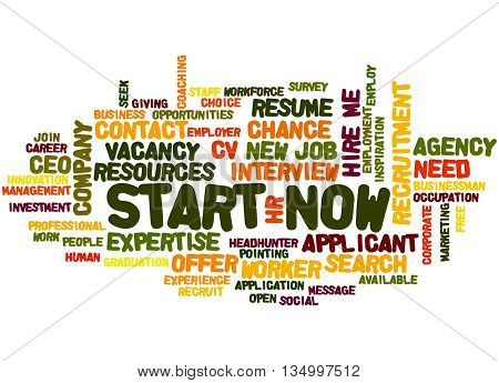 Start Now, Word Cloud Concept 4